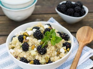 Blackberry Quinoa Salad with feta