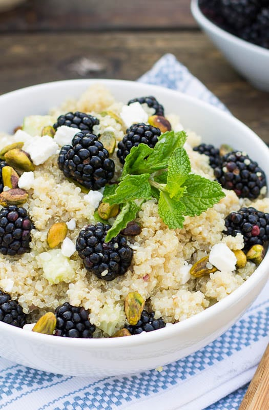 Quinoa Blackberry Salad - Spicy Southern Kitchen