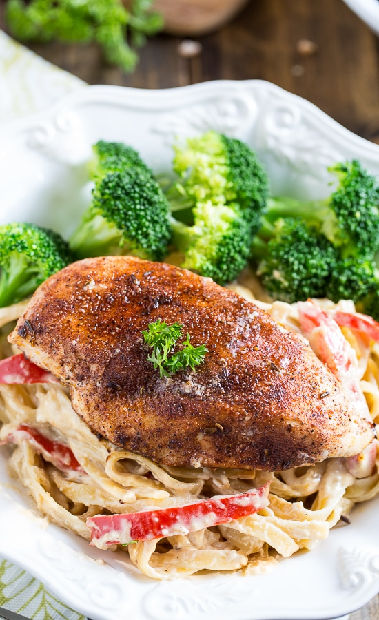 Blackened Chicken Fettuccine