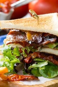 BLT with Tomato Jam and Pepper Jelly Bacon