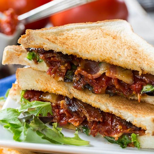 BLT with Tomato Jam and Pepper Jelly Bacon - Spicy Southern Kitchen