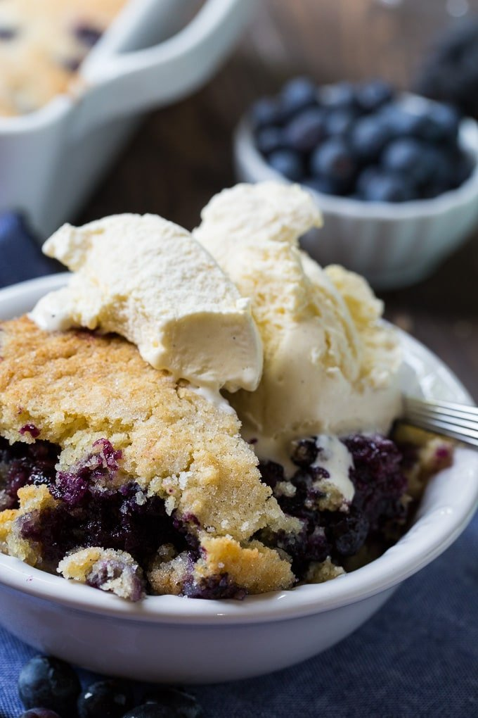 Southern Blueberry Cobbler Cake Recipe