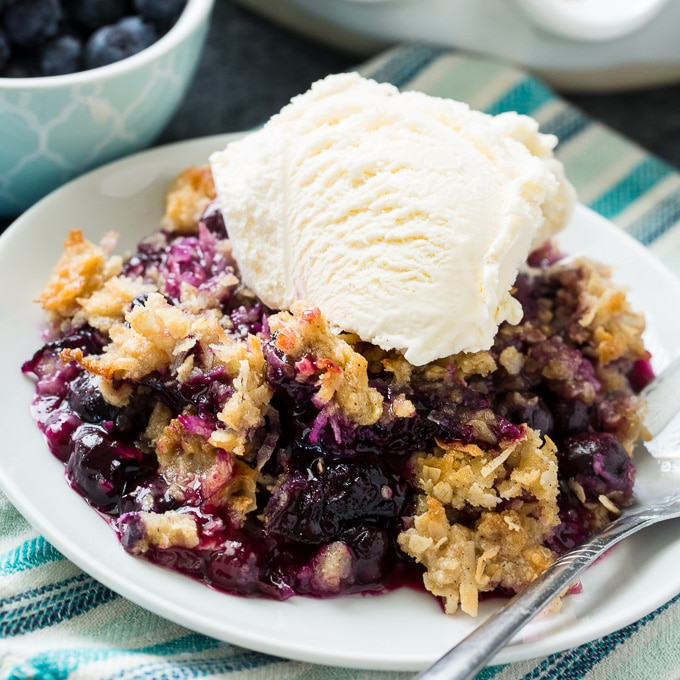 Blueberry Coconut Crisp