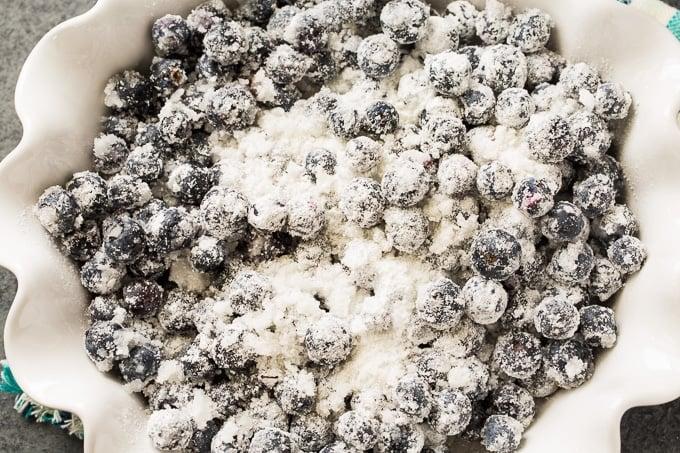 Blueberry Coconut Crisp makes an easy summer dessert
