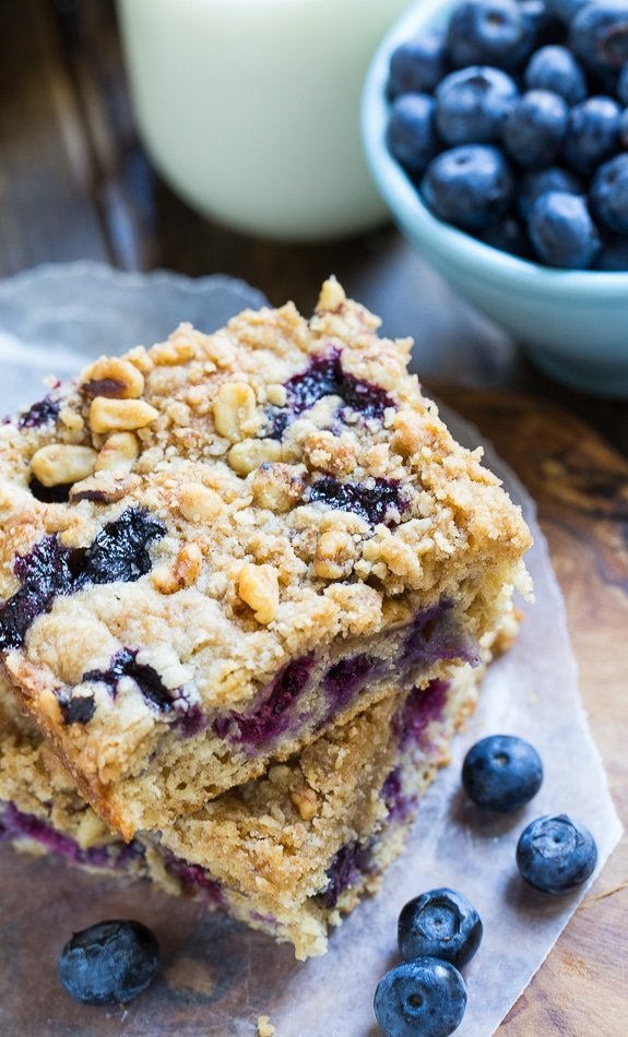 Lightened-Up Blueberry Coffee Cake #SweetSwaps #SplendaSweeties #ad