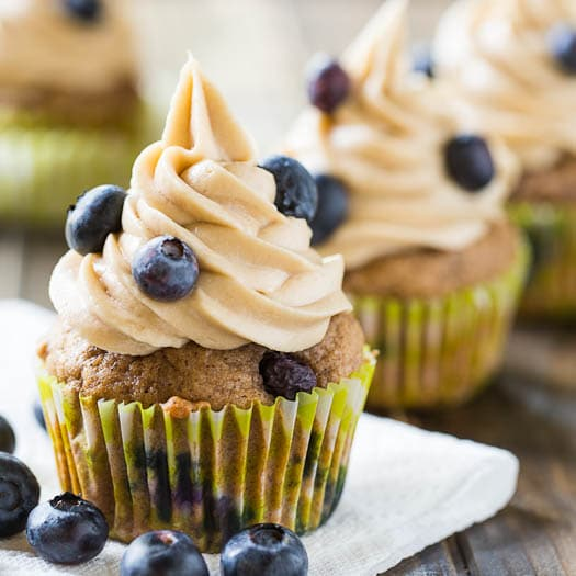 Blueberry Maple Cupcakes