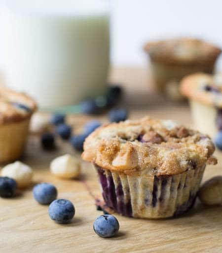 Blueberry Macadamia Nut Muffins
