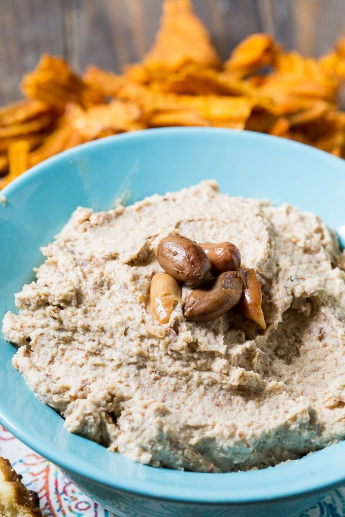 Spicy Boiled Peanut Hummus - Spicy Southern Kitchen
