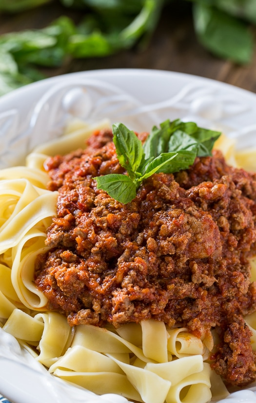 Papparadelle with Bolognese