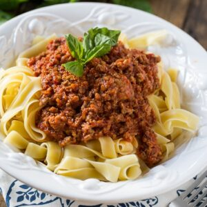 Papparadelle with Bolognese Sauce