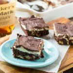 Double Frosted Bourbon Brownies #dessert