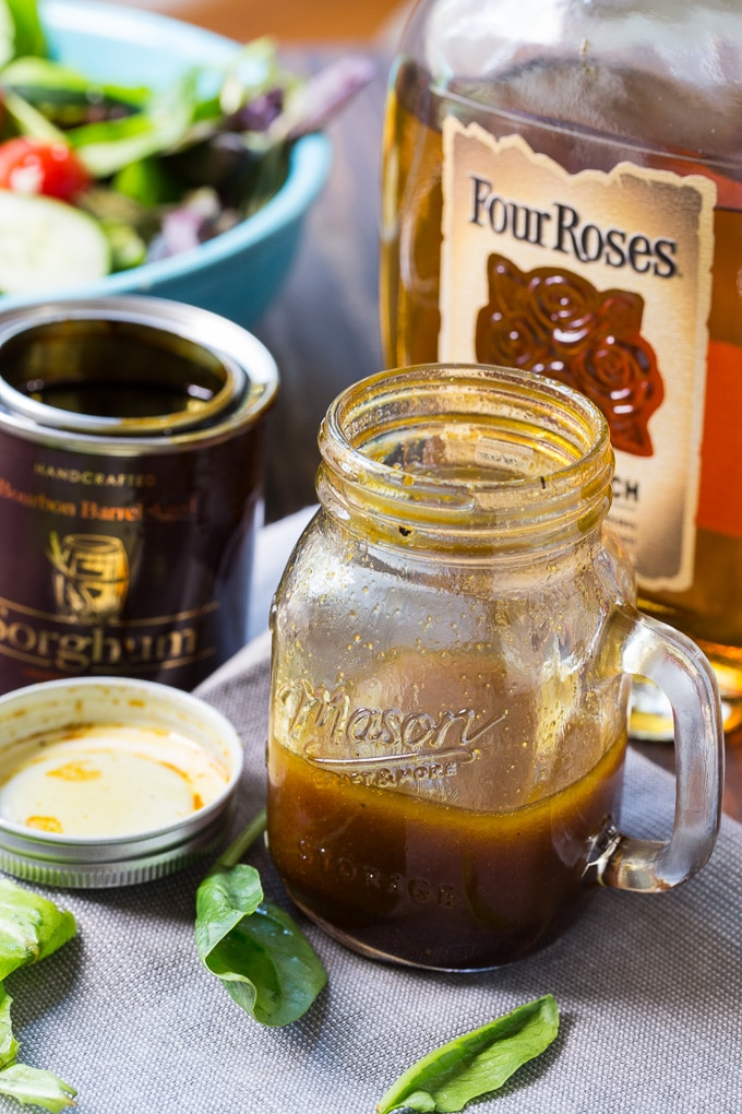Bourbon Sorghum Vinaigrette made with Four Roses Bourbon