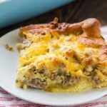 Sausage and Crescent Rolls Casserole