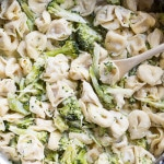 Broccoli Alfredo Tortellini- ready in less than 30 minutes!