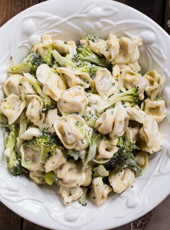 Broccoli ALfredo Tortellini - ready in less than 30 minutes!