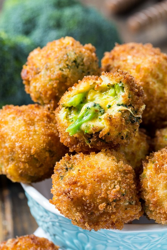 Fried Broccoli Cheese Balls