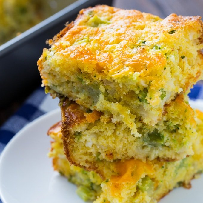 cheesy broccoli cornbread spicy southern kitchen rh spicysouthernkitchen com