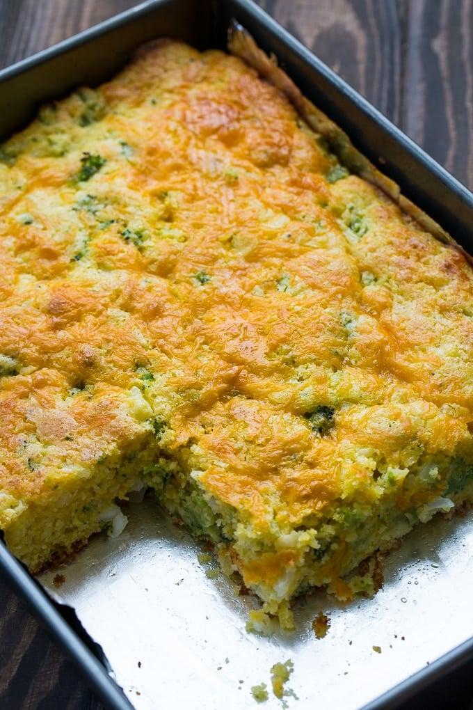 Cheesy Broccoli Cornbread recipe