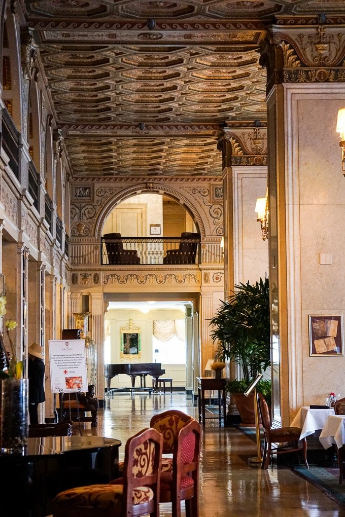 The Brown Hotel lobby in Louisville