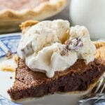 Brownie Pie- tastes like a fudgy brownie in a pie crust!