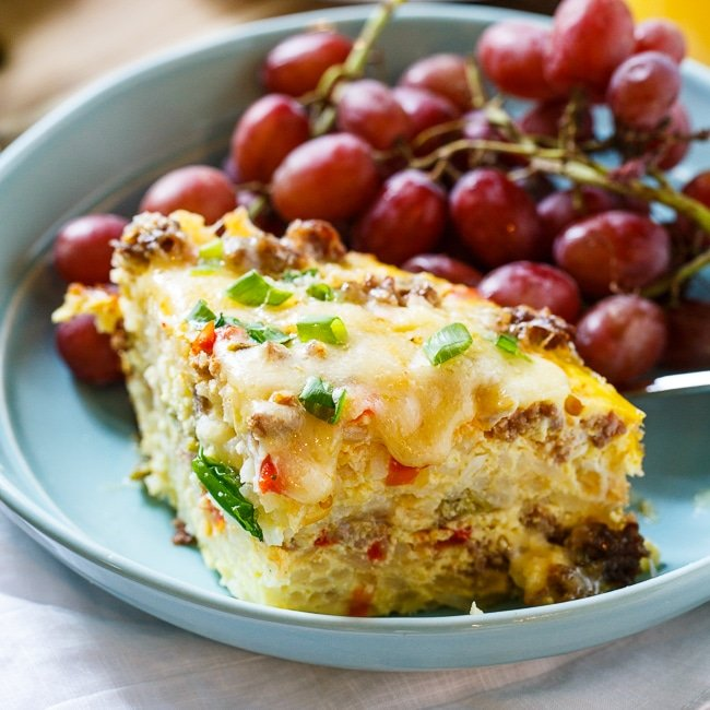 Spicy Crock Pot Brunch Casserole