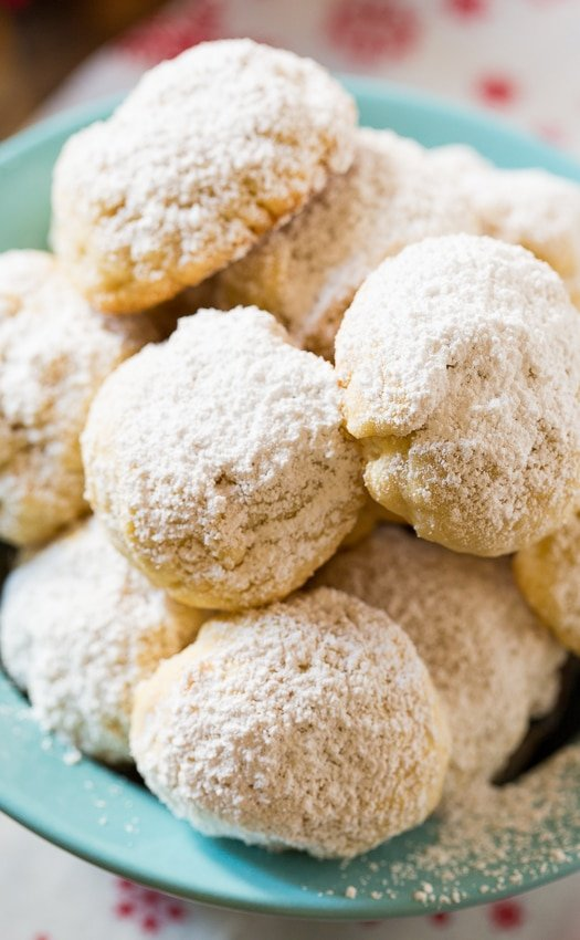 Greek Butter Cookies. Festive little snowball cookies flavored with butter and roasted almonds.