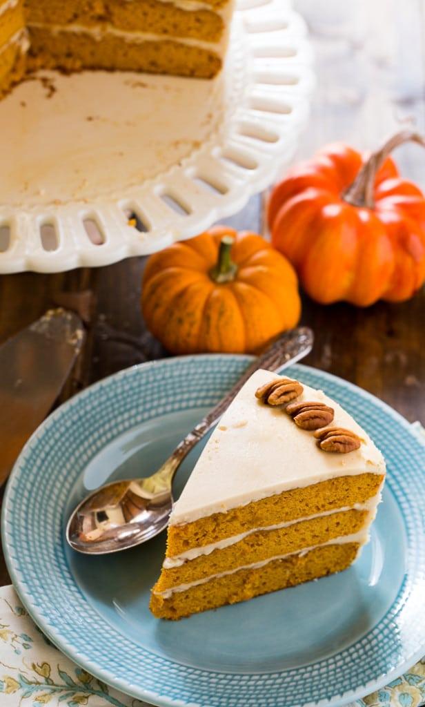 Butterscotch Pumpkin Cake with Butterscotch Icing