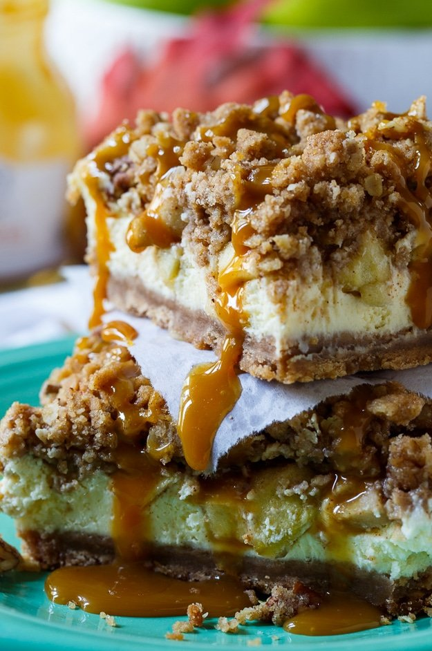 Caramel-Apple Cheesecake Bars