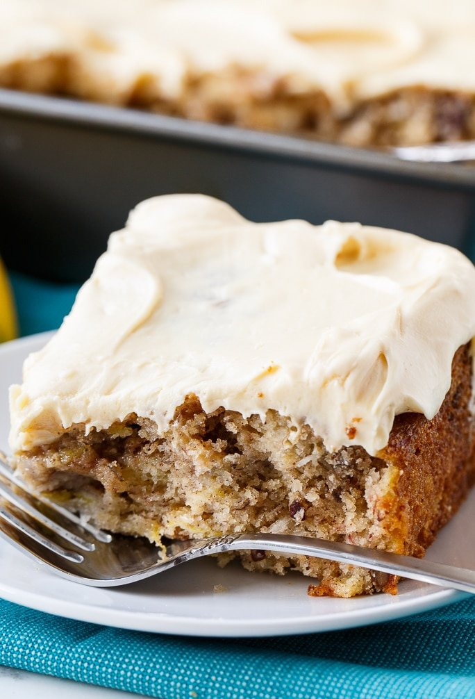 Hummingbird Cake with Caramel Icing