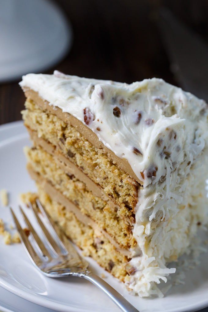 Caramel Italian Cream Cake with 2 kinds of frosting
