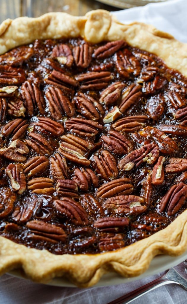 Paula Deen's Caramel Pecan Pie. Perfect for Thanksgiving or any other special occasion. Has a deep caramel flavor.