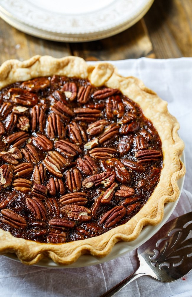 Paula Deen's Caramel Pecan Pie- perfect for Thanksgiving or any other special occasion. Has a deep caramel flavor.