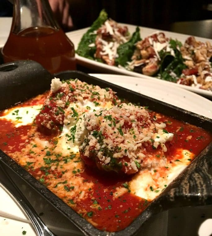 Carrabba's New Menu- Meatballs and Ricotta small plate