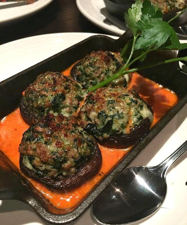 New menu items at Carrabba's- stuffed mushrooms