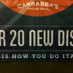 Carrabba's New Menu