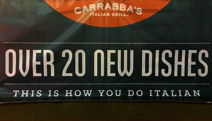 Carrabba's New Menu