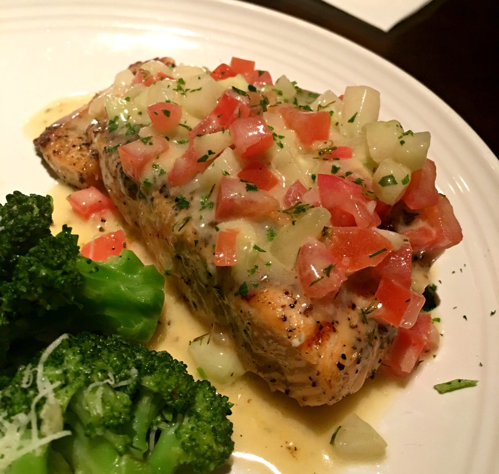 New menu at Carrabba's - Salmon Cetriolini