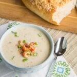 Crawfish Cauliflower Soup