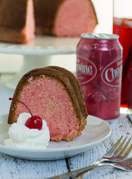 High quality photo of cheerwine pound cake