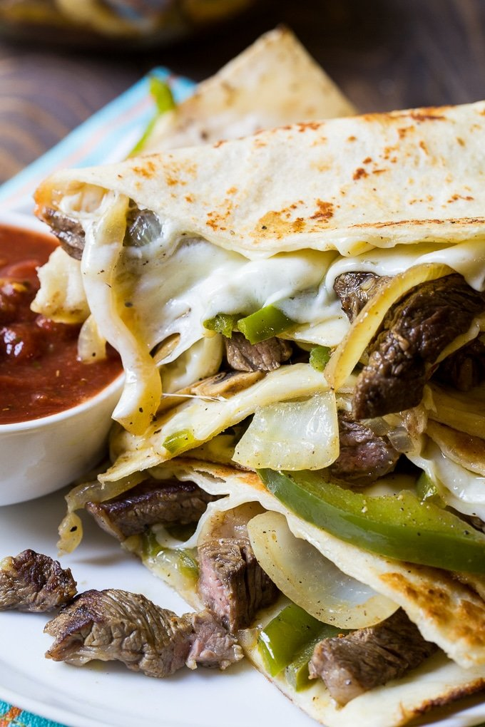 Philly Cheese Steak Quesadillas recipe