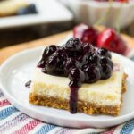 Lightened-Up Cheesecake Bars with fruit toppings. #SweetSwaps #SplendaSweeties