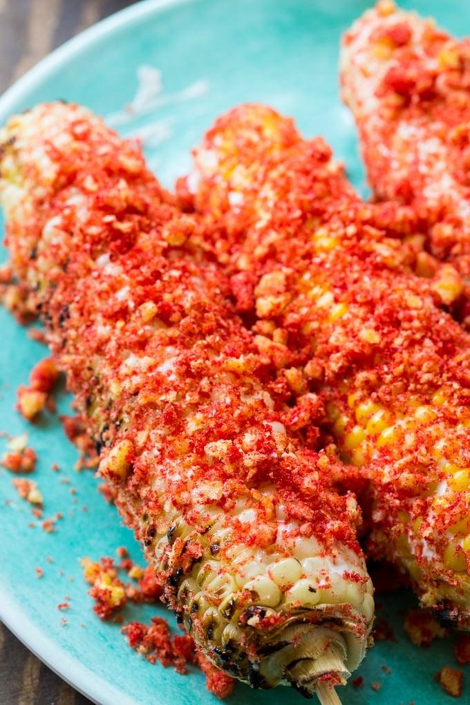 Flamin Hot Cheetos Corn on the Cob