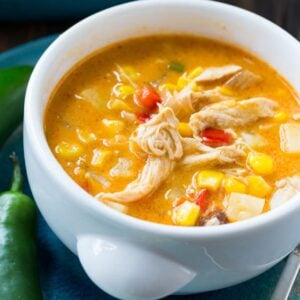Spicy Chicken and Corn Chowder