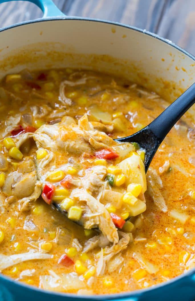 Spicy Chicken and Corn Chowder