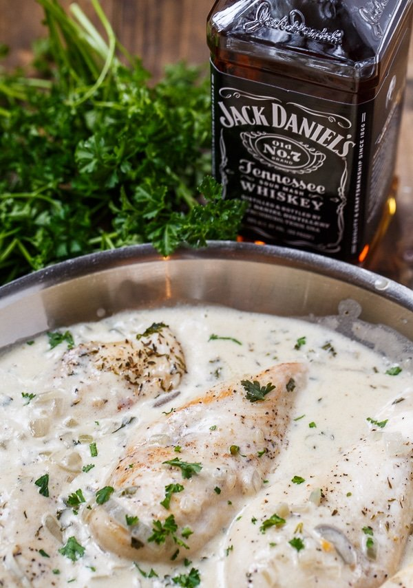 Chicken in Jack Daniels Cream Sauce