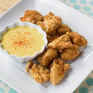 Crispy Chicken Nuggets with Honey Mustard