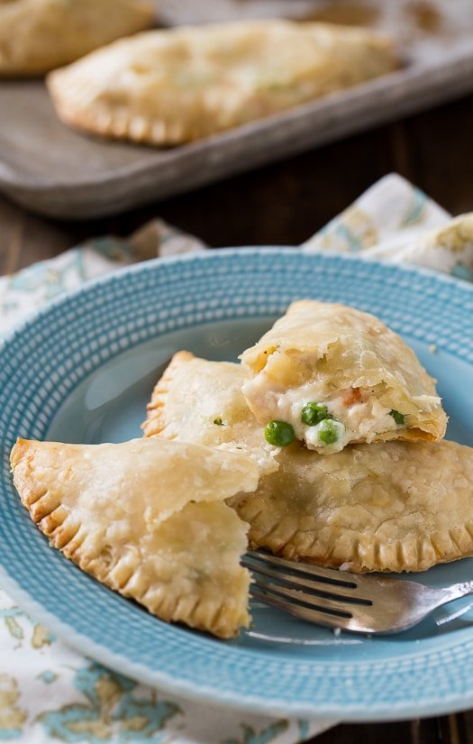 Chicken Pot Pie Turnovers made with refrigerated pie crust