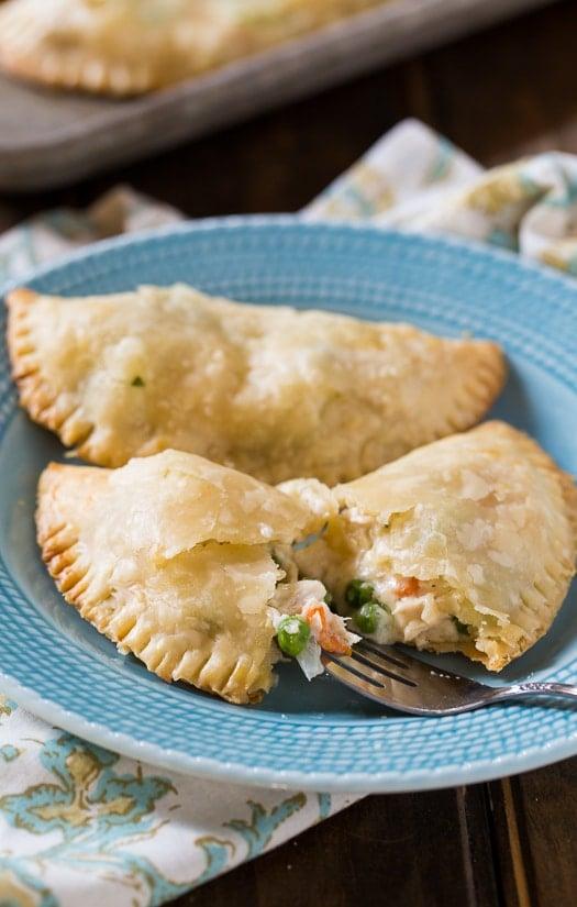 Chicken Pot Pie Turnovers Spicy Southern Kitchen
