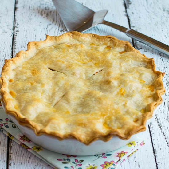 easy Chicken Pot Pie made with Rotisserie Chicken and refrigerated pie ...