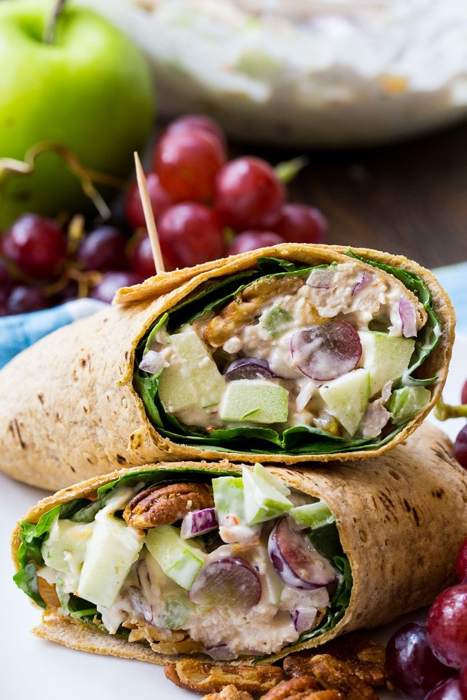 Chicken Salad with apples, grapes, and pecans